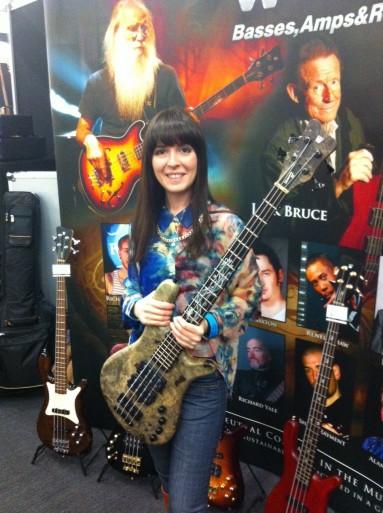 Sara Farina Warwick bass. LBGS London Bass Guitar Show